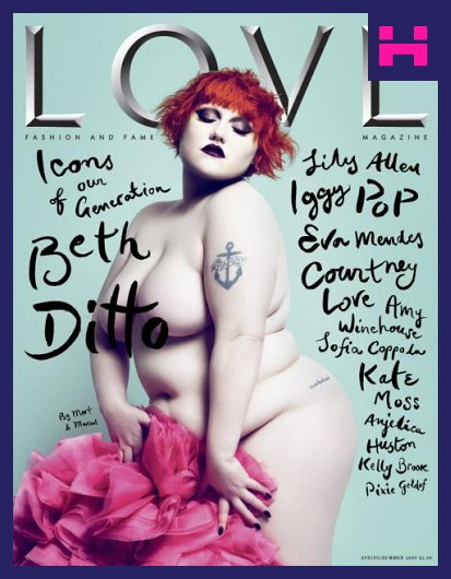 Beth Ditto from The Gossip naked