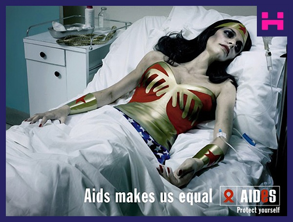 Wonderwoman for Aids doseofAlla.lt